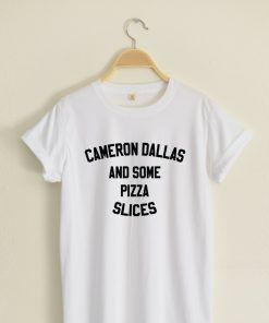 Cameron Dallas and some Pizza Slices T shirt Adult Unisex
