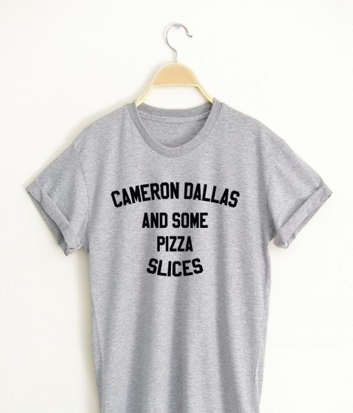 Cameron Dallas and some Pizza Slices T shirt Adult Unisex Size S 3XL