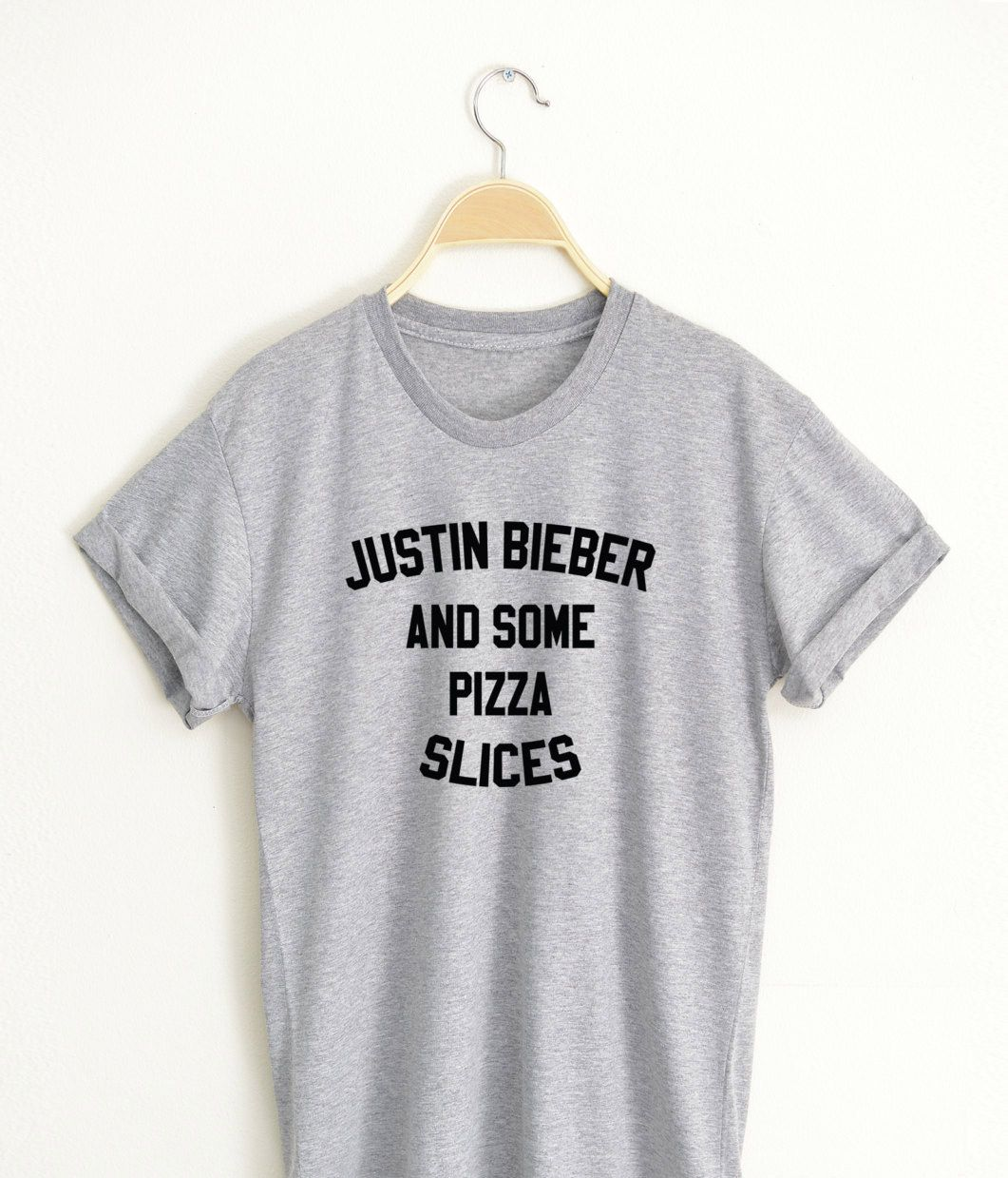c575f047 JUSTIN BIEBER and Some Pizza Slices T shirt Adult Unisex Size S 3XL