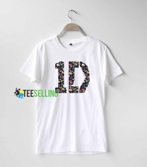 1D One Direction Flowers T shirt Adult Unisex For men and women Size S 3XL