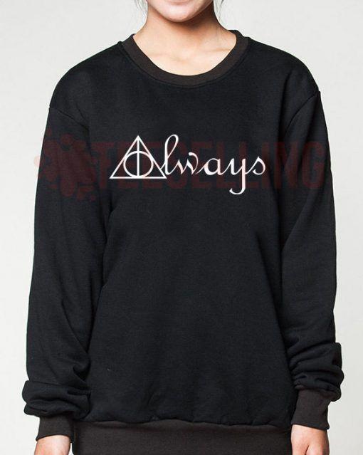 Always Deathly Hallows unisex adult sweatshirts men and women