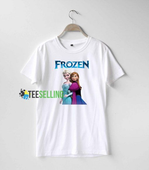 Anna and Elsa Frozen T shirt Adult Unisex For men and women Size S 3XL