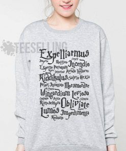 Harry Potter Spells Unisex adult sweatshirts