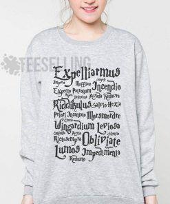 Harry Potter Spells Unisex adult sweatshirts