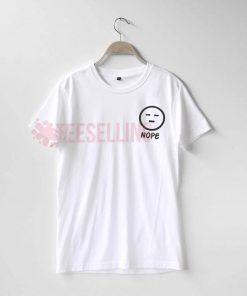 Nope frace emoji T Shirt Adult Unisex