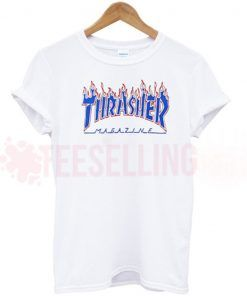 Thrasher flame blue T Shirt Adult Unisex
