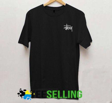 Stussy logo black T-shirt Adult Unisex For men and women