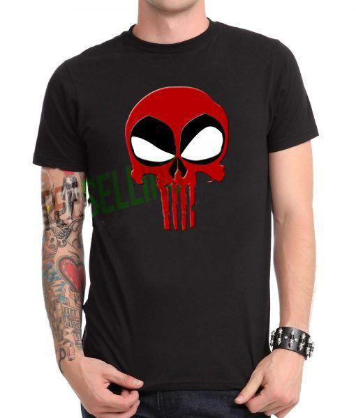 Punisher Deadpool T-shirt Adult Unisex