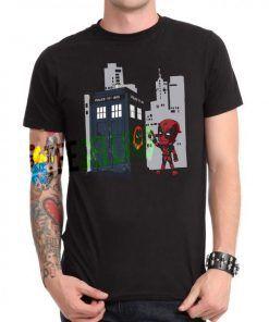 Deadpool Gravity Tardis T-shirt Adult Unisex