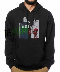Deadpool Gravity Tardis Hoodie Adult Unisex