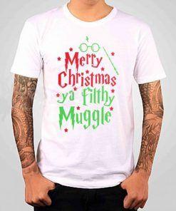 Harry Potter Marry Christmas T-shirt Adult Unisex