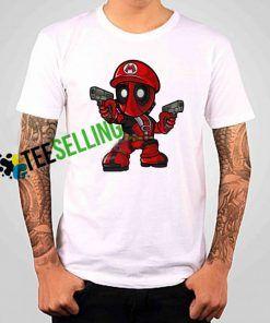 Mario Deadpool T-shirt Adult Unisex