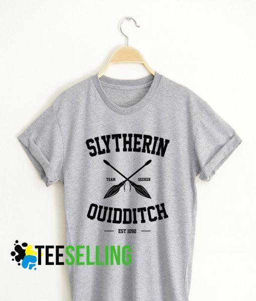 Slytherin Quidditch T shirt Adult Unisex