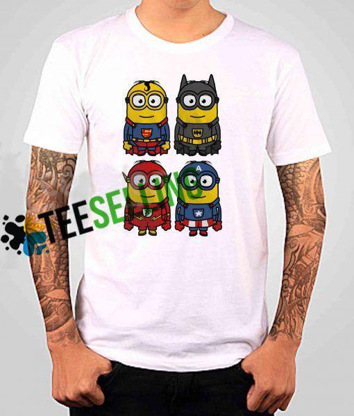 Minion Superhero T shirt Adult Unisex
