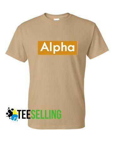 Alpha T shirt Adult Unisex