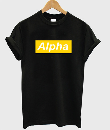 Alpha T shirt Adult Unisex