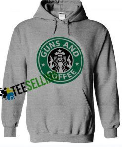 Gun and Coffe Hoodie Adult Unisex