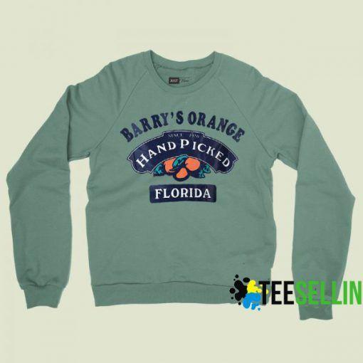 Barry Orange's Hand Picked Florida Sweatshirts Unisex Adult