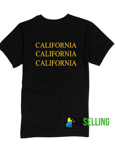 California T shirt Adult Unisex