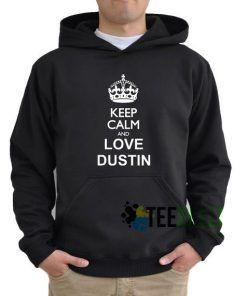 Keep Calm And Love Dustin Hoodie Adult Unisex