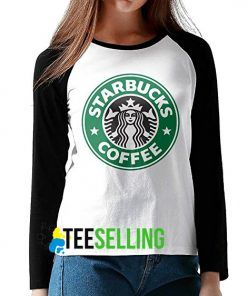 starbuck coffe baseball shirt