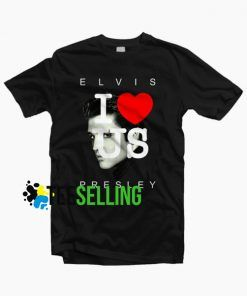 I LOVE USA ELVIS PRESLEY T-SHIRT UNISEX ADULT