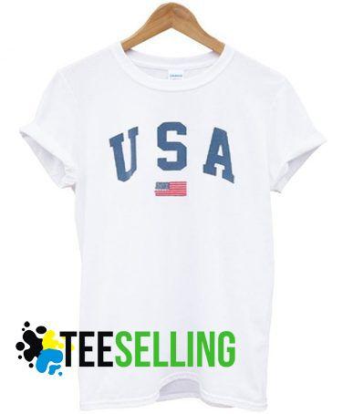 USA Flag T shirt Adult Unisex