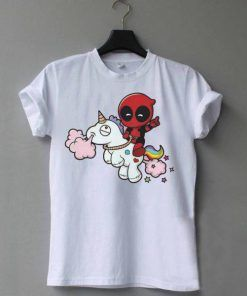 deadpool vs unicorn t-shirt adult unisex