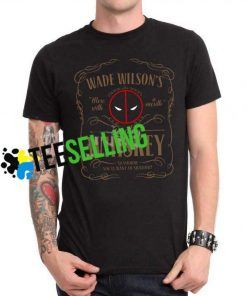 Deadpool Wade Wilson Whiskey T-shirt Unisex Adult