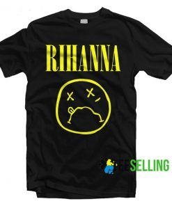 Rihanna on Nirvana Parody T-shirt Unisex Adult Size