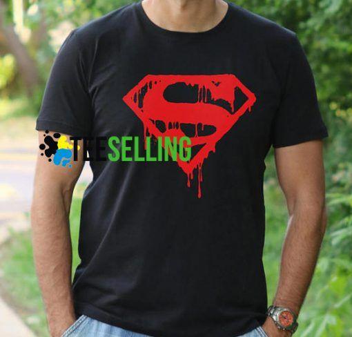 SUPERMAN BLOOD LOGO T-SHIRT UNISEX ADULT