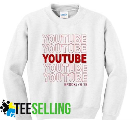 YOUTUBE SWEATSHIRT UNISEX ADULT