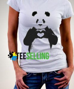 LOVE PANDA T shirt Adult Unisex Size S-3XL