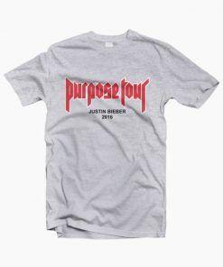 Justin Bieber Purpose Tour 2016 T Shirt Adult Unisex