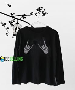 Kreepsville Skeleton Devil Hands Sweatshirt