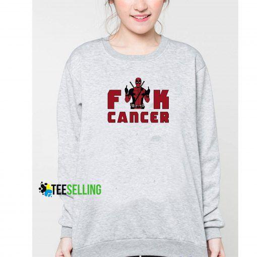 Fuck Cancer Deadpool sweatshirt