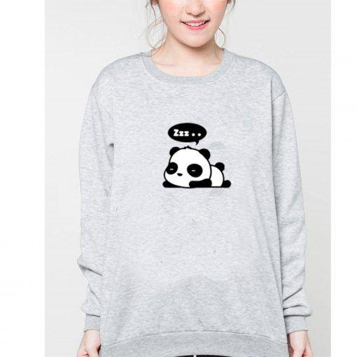 Zzz Panda Sweatshirt Adult Unisex