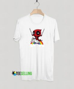 Deadpool Riding Unicorn T shirt Adult Unisex