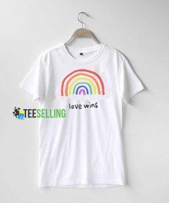 Love Wins Rainbow T shirt Adult Unisex