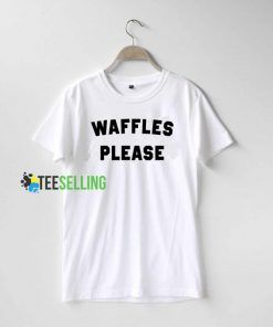 Waffles Please Quote T Shirt black