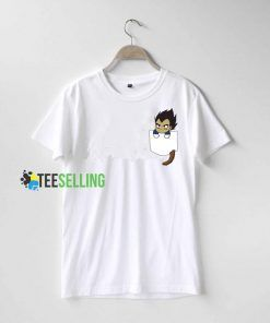 Chibi Vegeta Pocket T shirt Adult Unisex