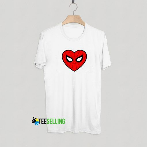 Spiderman Heart T shirt Unisex Adult
