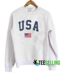 USA Flag Unisex Adult Sweatshirts Size S-3XL
