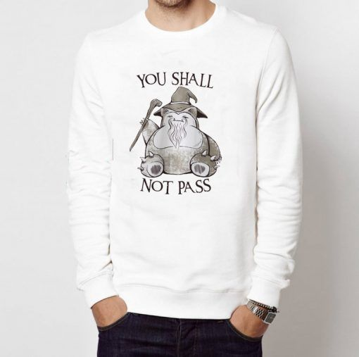 You Shall Not Pass Unisex Adult Sweatshirts Size S 3XL