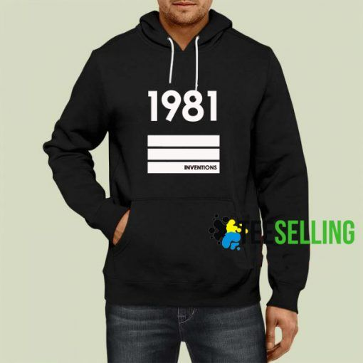 1981 Inventions Hoodie Adult Unisex Size S 3XL