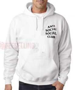 Anti Social Social Club White Hoodie Adult Unisex Size S-3XL