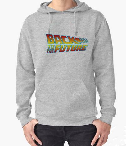 Back To The Future Hoodie Adult Unisex Size S 3XL