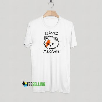 David Meowie T shirt Adult Unisex For men and women