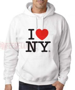 I Love New York Hoodie Adult Unisex Size S-3XL
