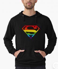 Lgbt Superman Hoodie Adult Unisex Size S-3XL